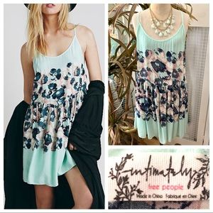 """Intimately FP"" floral print shortie slip dress-M"